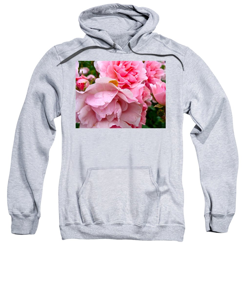 Roses Sweatshirt featuring the photograph Rainy Day Roses by Ira Shander