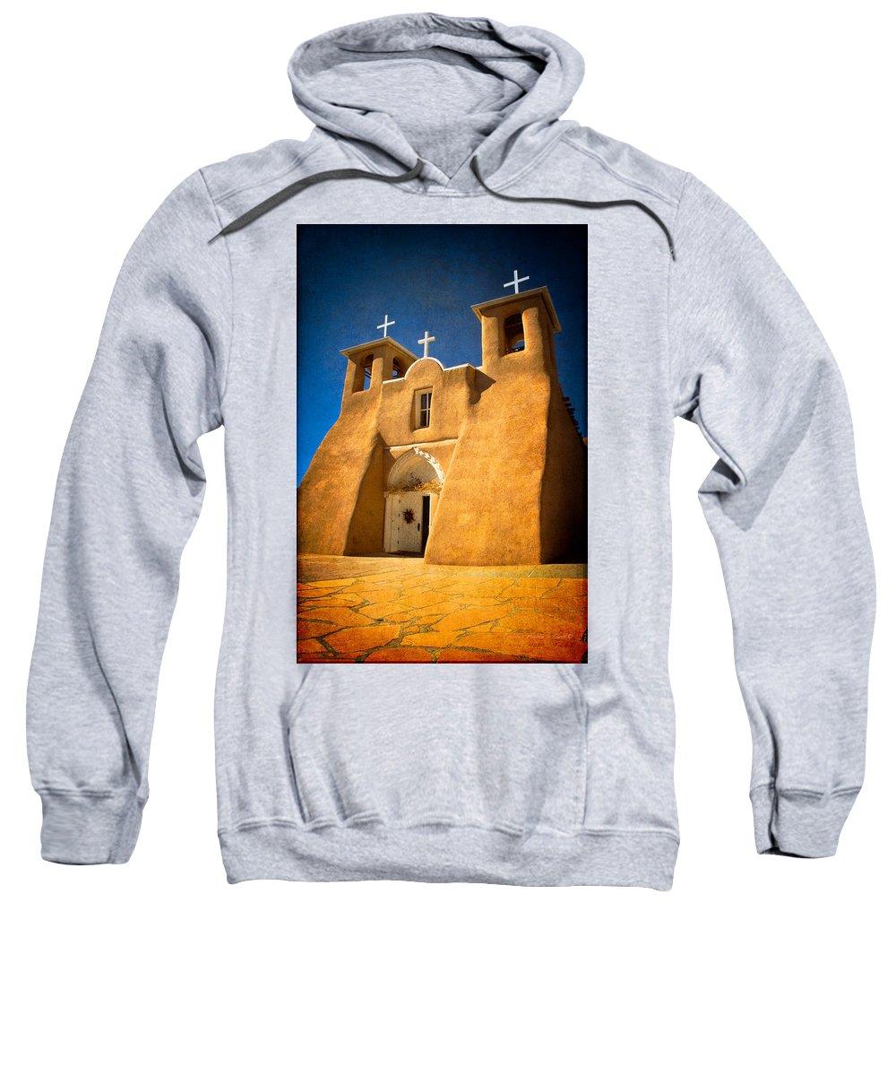 Santa Sweatshirt featuring the photograph Ranchos Church Xxx by Charles Muhle