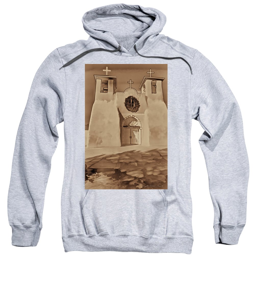 Ranchos Sweatshirt featuring the photograph Ranchos In Palladium by Charles Muhle