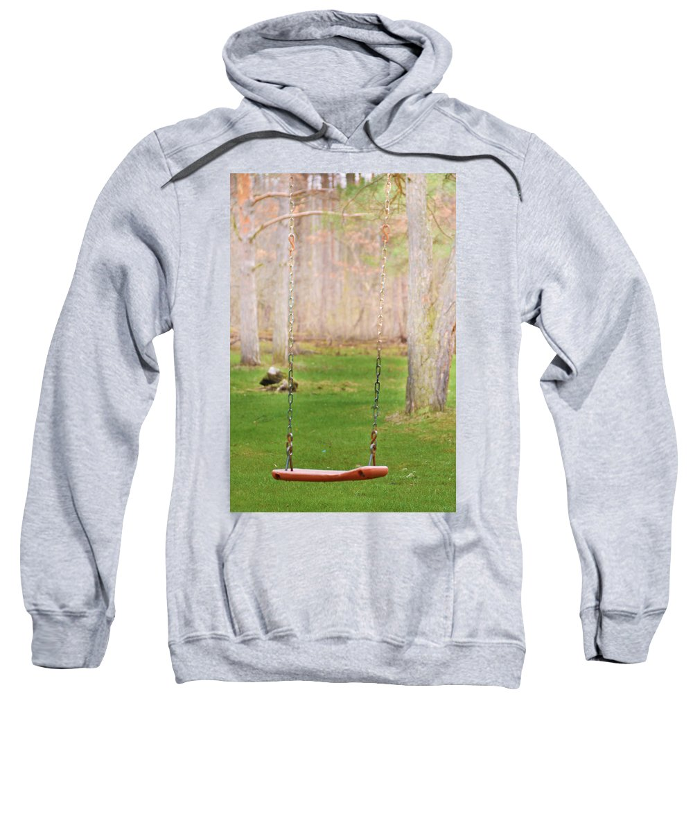 Old Style Swings Sweatshirt featuring the photograph Ready To Take A Swing by Tracy Winter