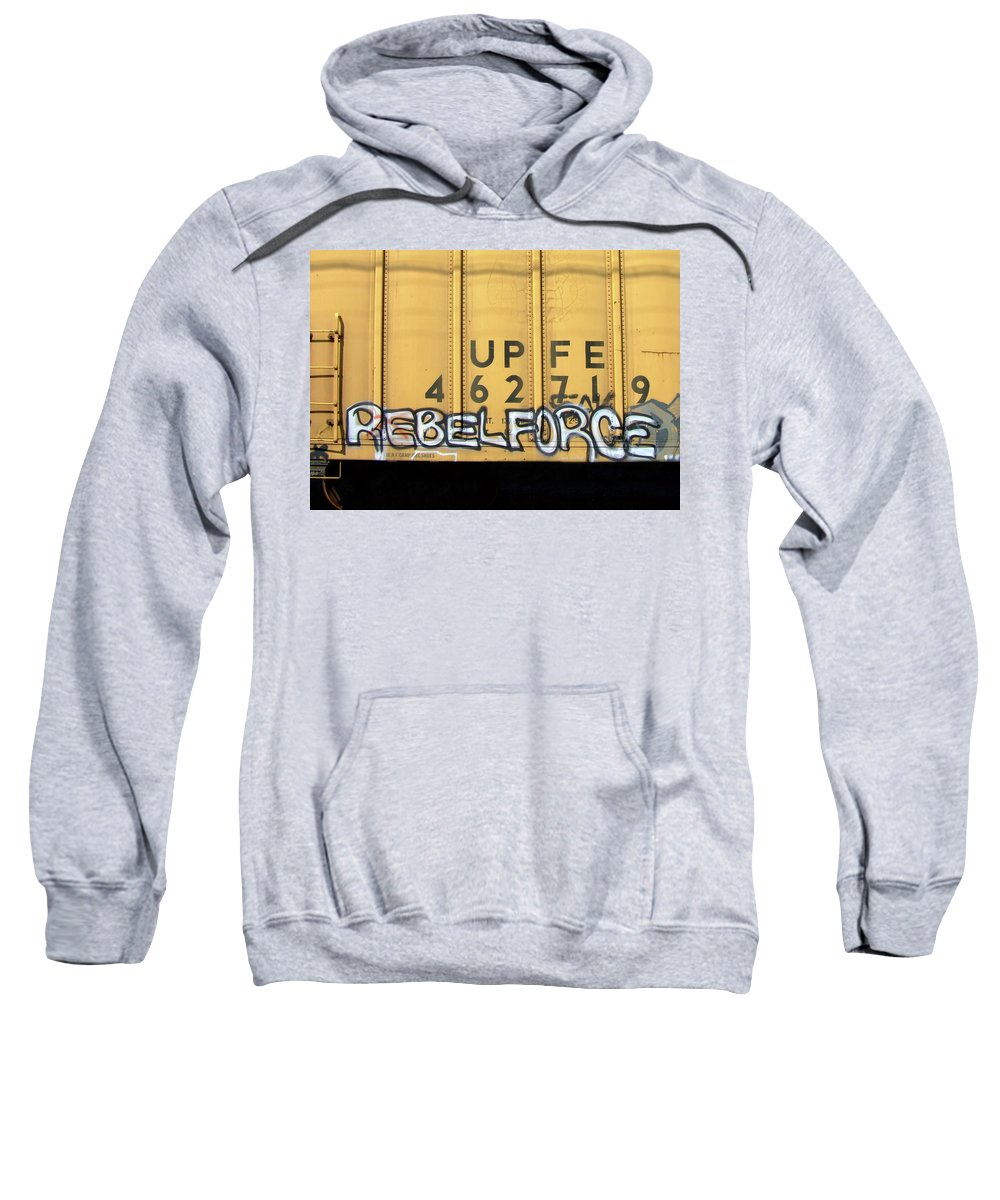 Graffiti Sweatshirt featuring the photograph Rebel Force by Donna Blackhall
