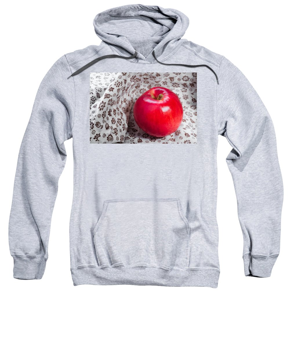 Agriculture Sweatshirt featuring the photograph Red Apple by Alain De Maximy
