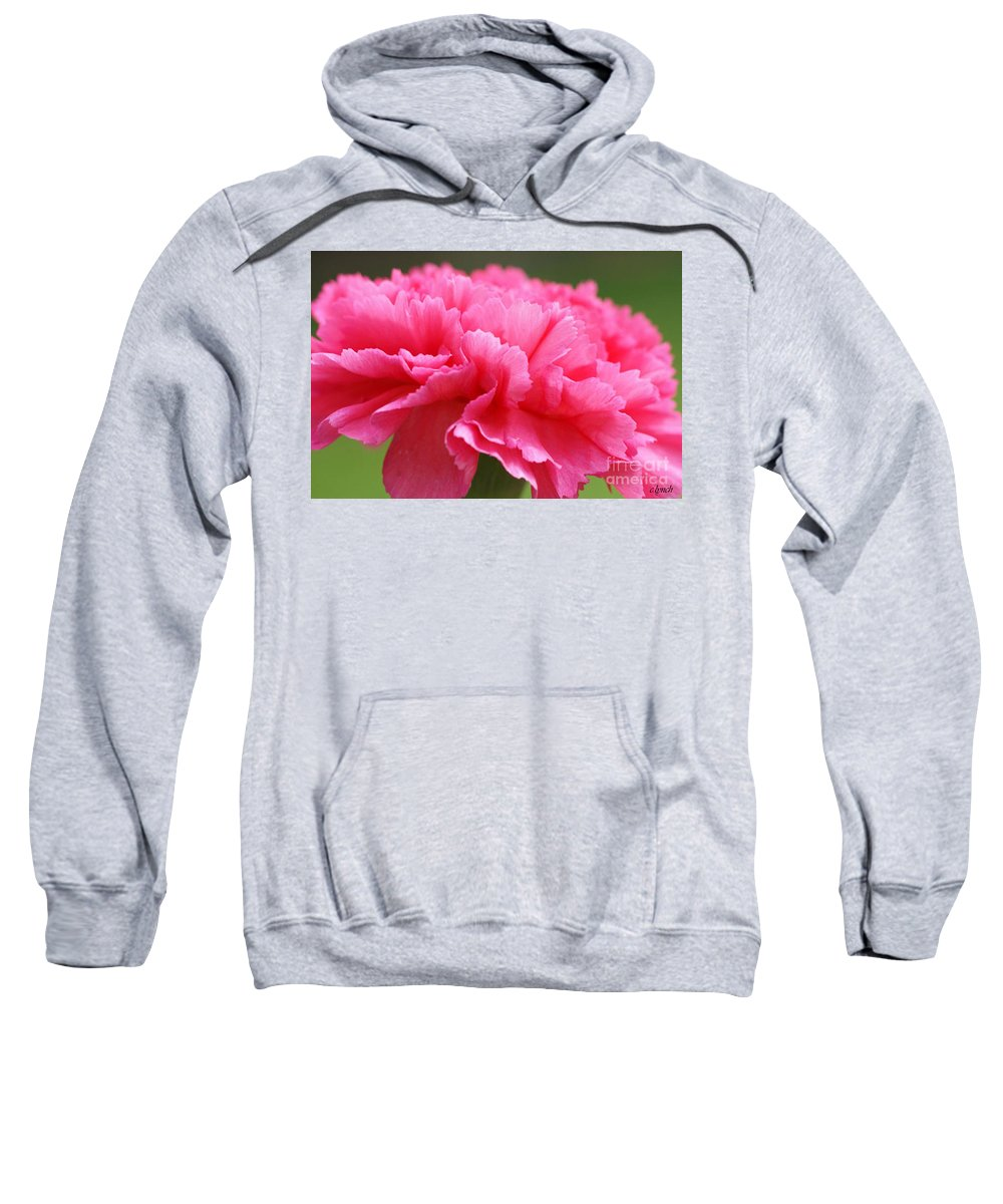 Carnation Sweatshirt featuring the photograph Red Carnation by Carol Lynch