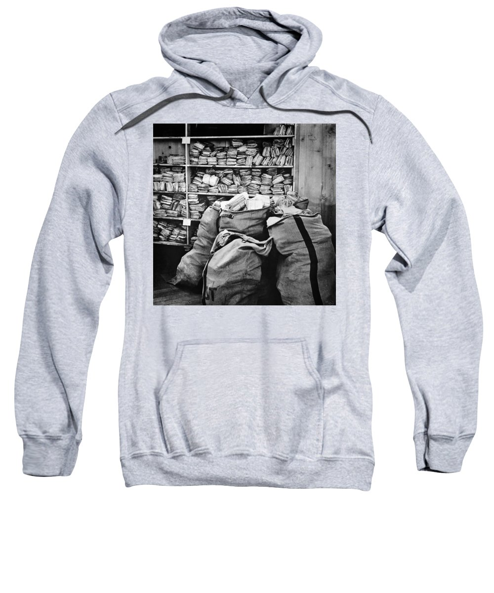 1940 Sweatshirt featuring the photograph Red Cross: Mail, 1940 by Granger