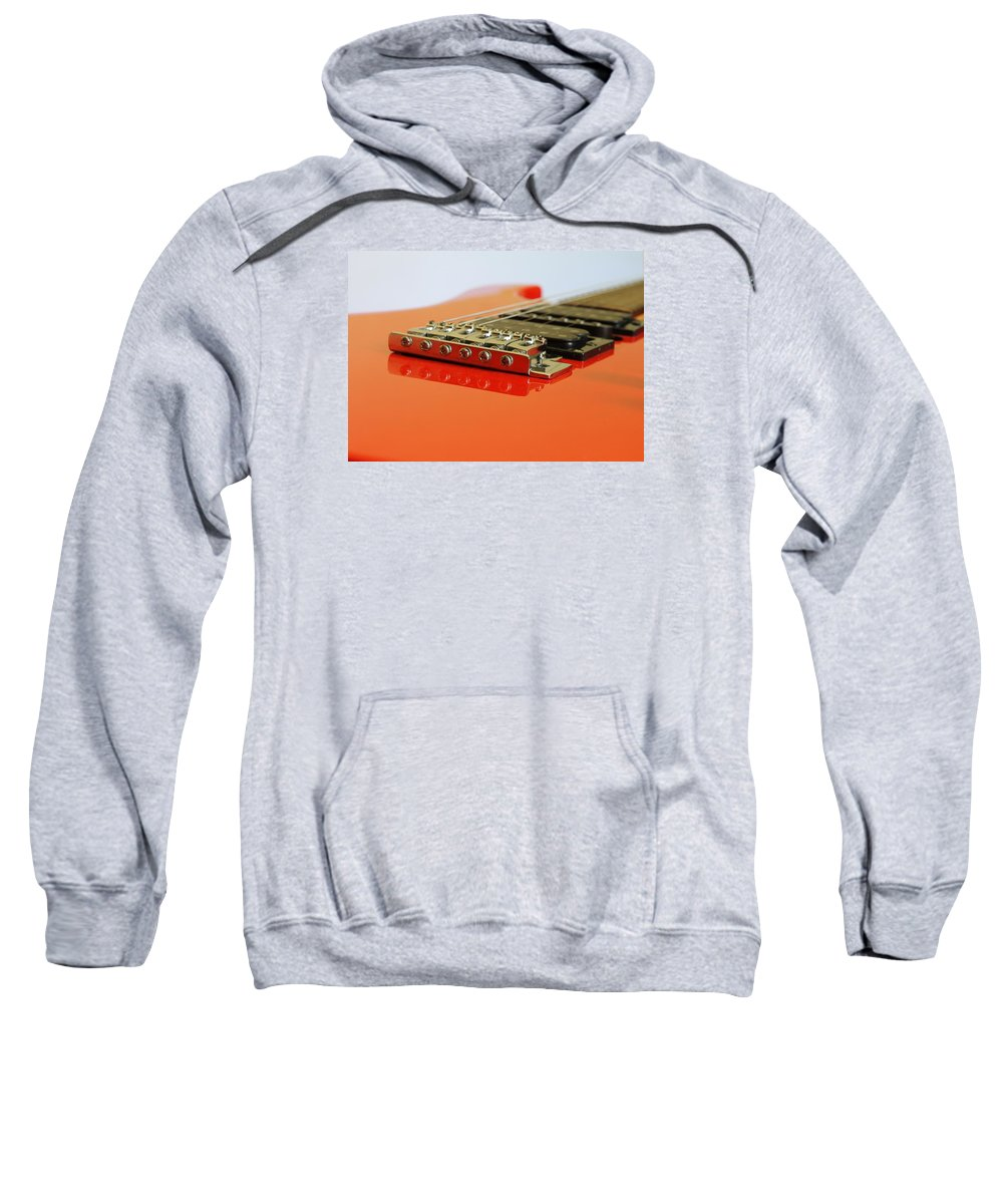 Guitar Sweatshirt featuring the photograph Red Giutar by FL collection
