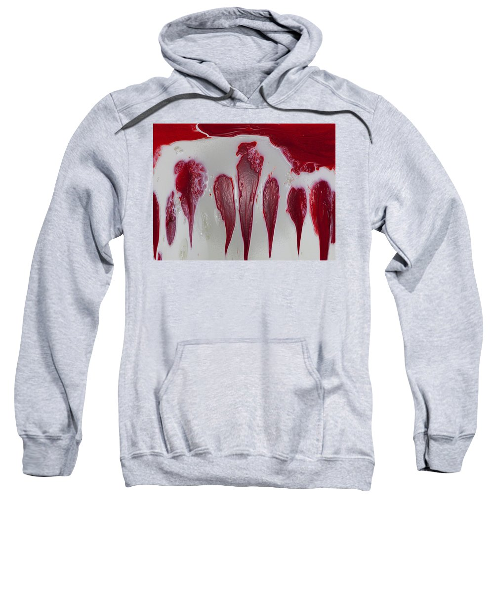 Red Sweatshirt featuring the digital art Red Hen by Tera Michaels