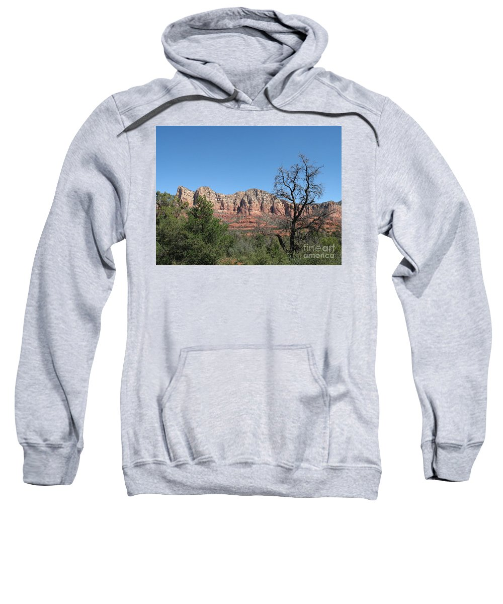 Red Rock Sweatshirt featuring the photograph Red Rock Country - Sedonna by Christiane Schulze Art And Photography