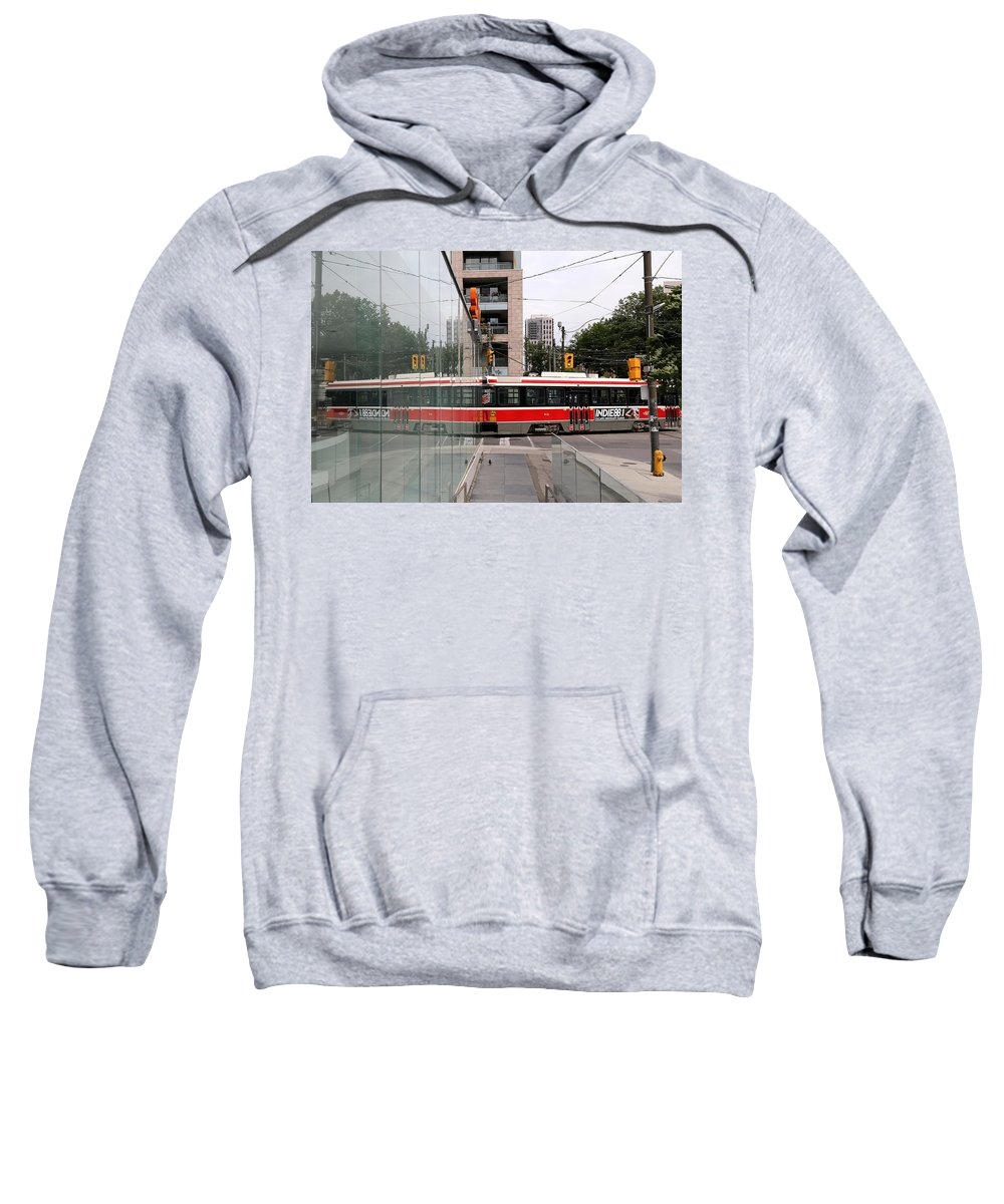 Streetcar Sweatshirt featuring the photograph Red Rocket 37 by Andrew Fare