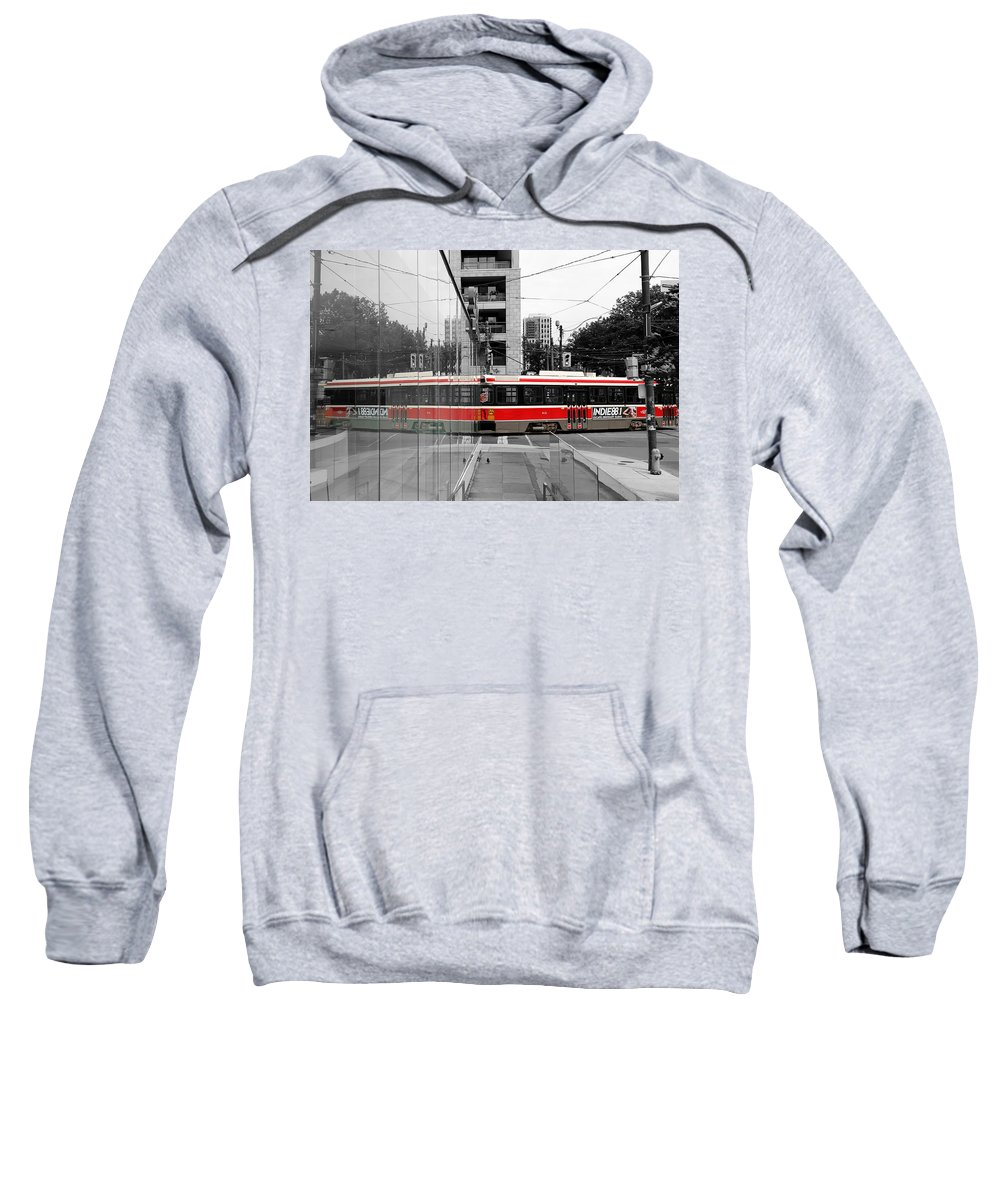 Streetcar Sweatshirt featuring the photograph Red Rocket 37c by Andrew Fare