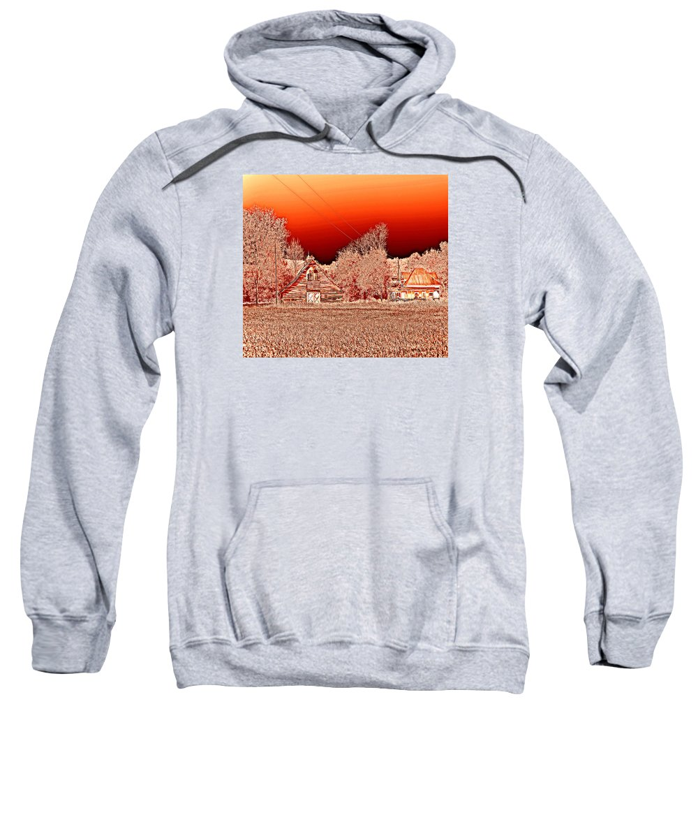 Rural Alabama Sweatshirt featuring the photograph Red Sky At Night by Marilyn Holkham