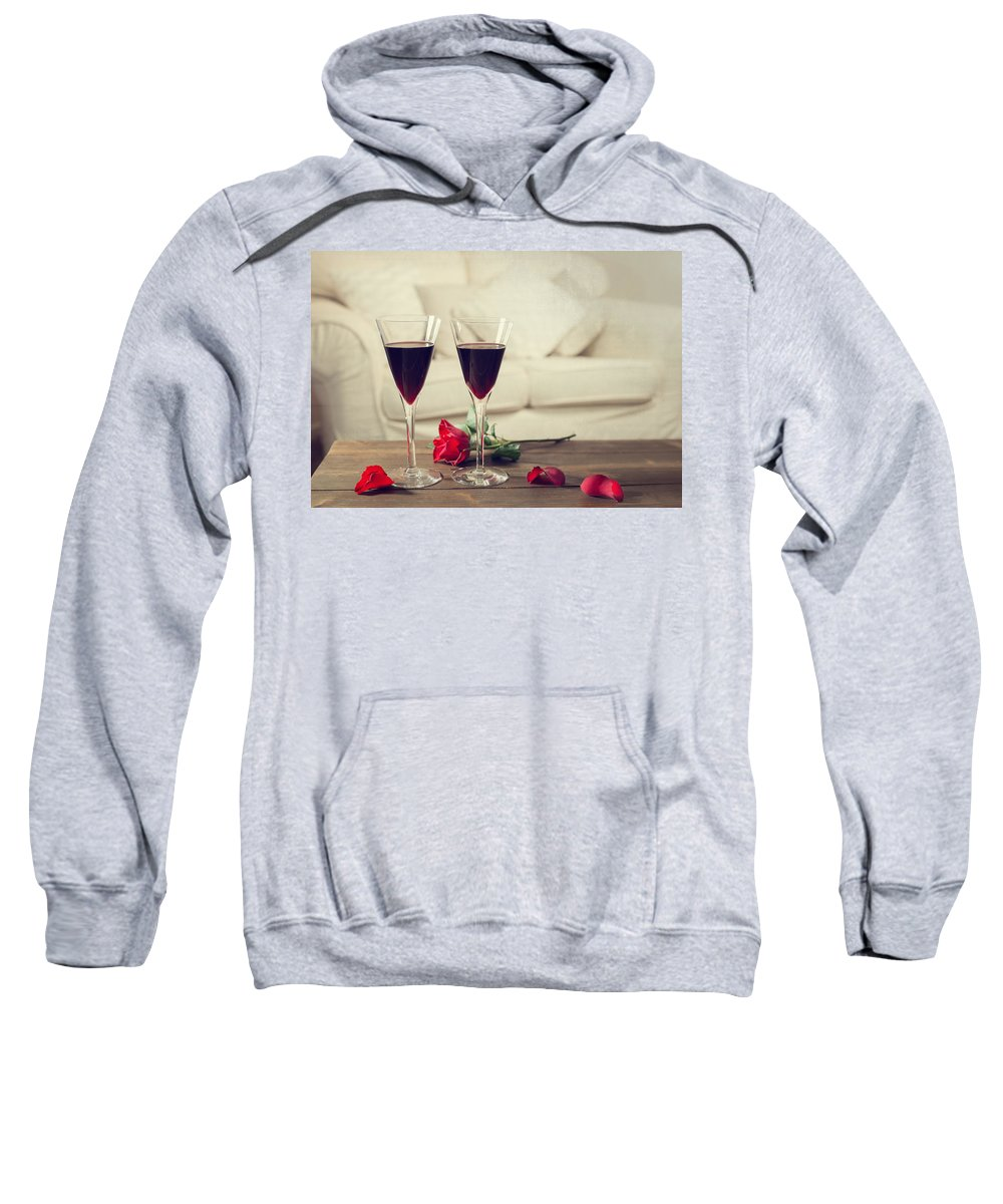 Red Sweatshirt featuring the photograph Red Wine by Amanda Elwell