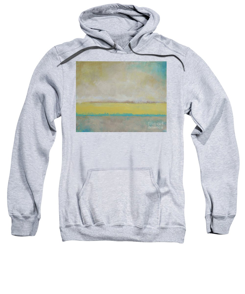 Landscape Sweatshirt featuring the painting Reflection by Kate Marion Lapierre
