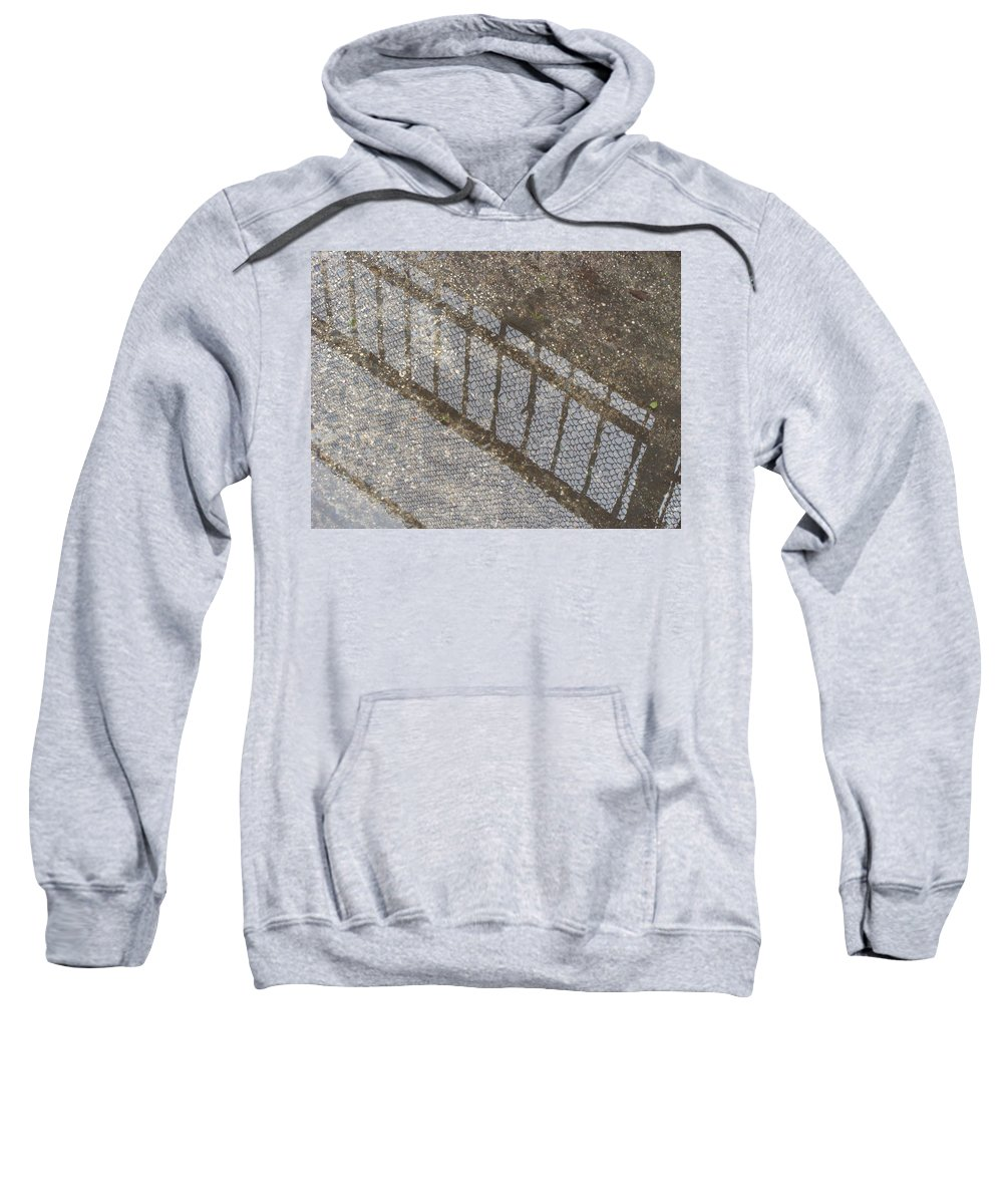 Rainy Days Sweatshirt featuring the photograph Reflections In Grey by Ira Shander
