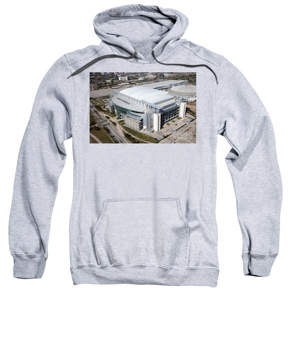 Houston Sweatshirt featuring the photograph Reliant Stadium In Houston by Bill Cobb