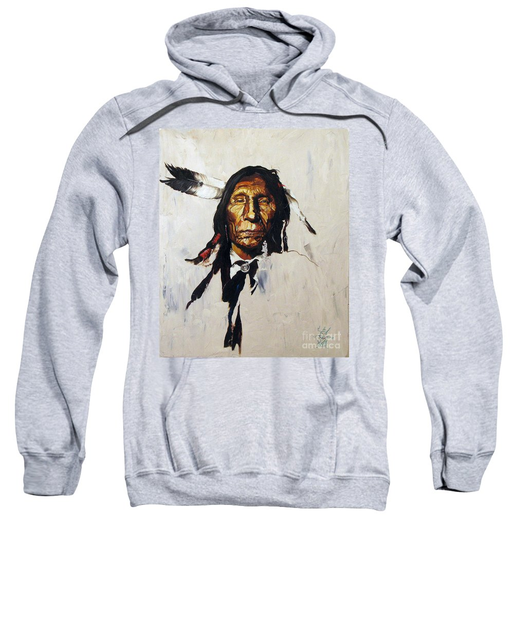 Southwest Art Sweatshirt featuring the painting Remember by J W Baker
