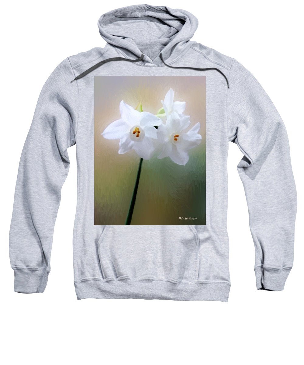 Floral Sweatshirt featuring the painting Remembering You by RC DeWinter
