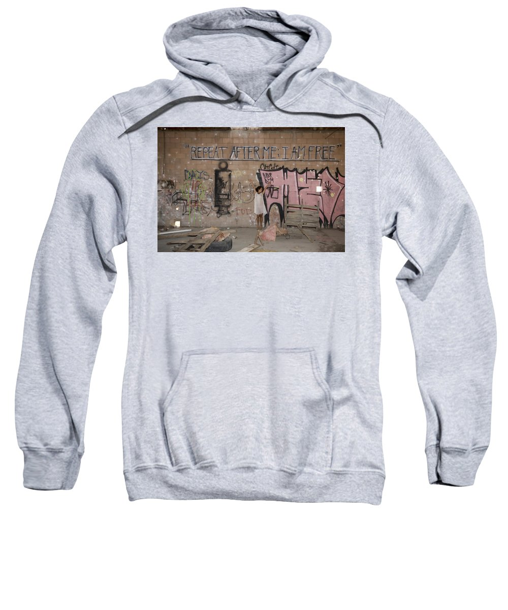 Niland Sweatshirt featuring the photograph Repeat After Me by Hugh Smith