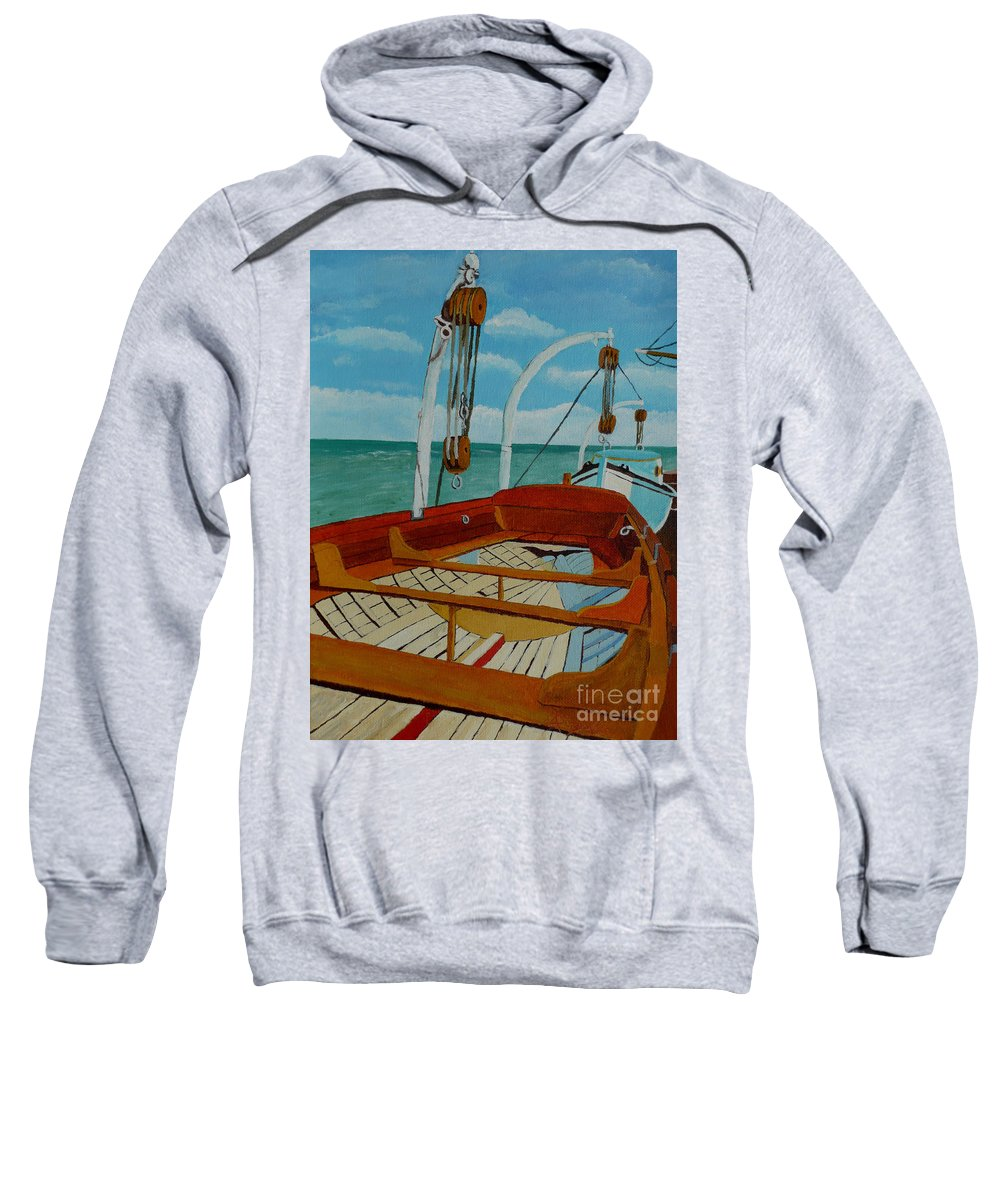 Lifeboats Sweatshirt featuring the painting Rescue Me by Anthony Dunphy