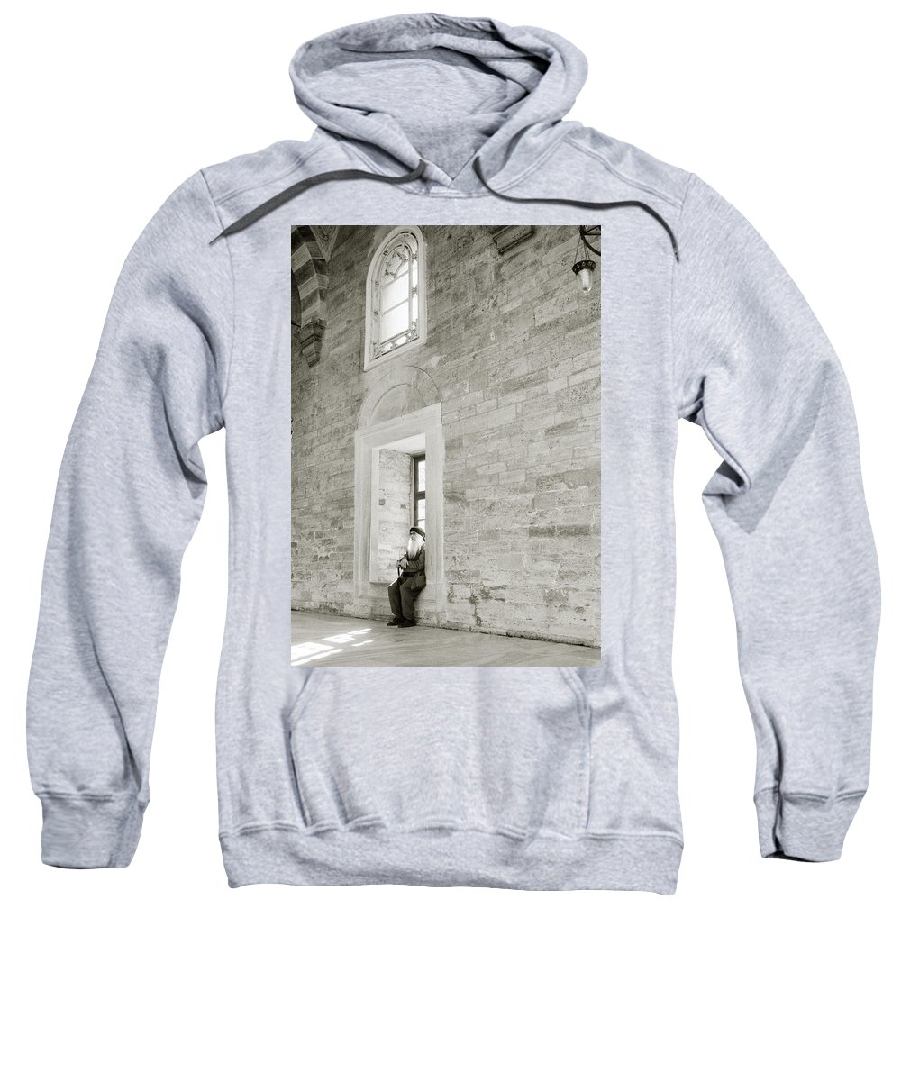 Solitude Sweatshirt featuring the photograph The Resting Man by Shaun Higson