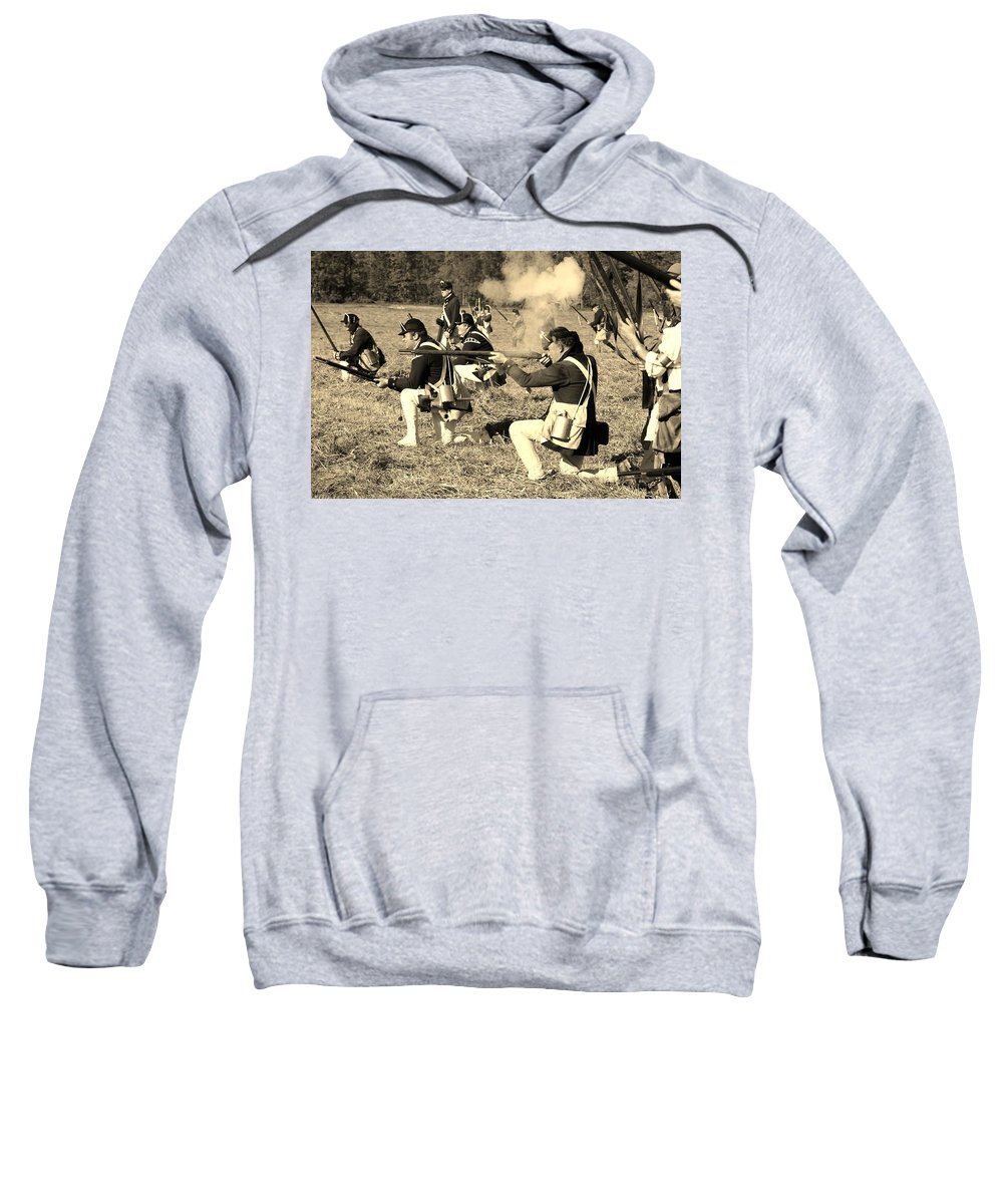 Old Stone Fort Sweatshirt featuring the photograph Revolutionary War Battle by George Fredericks