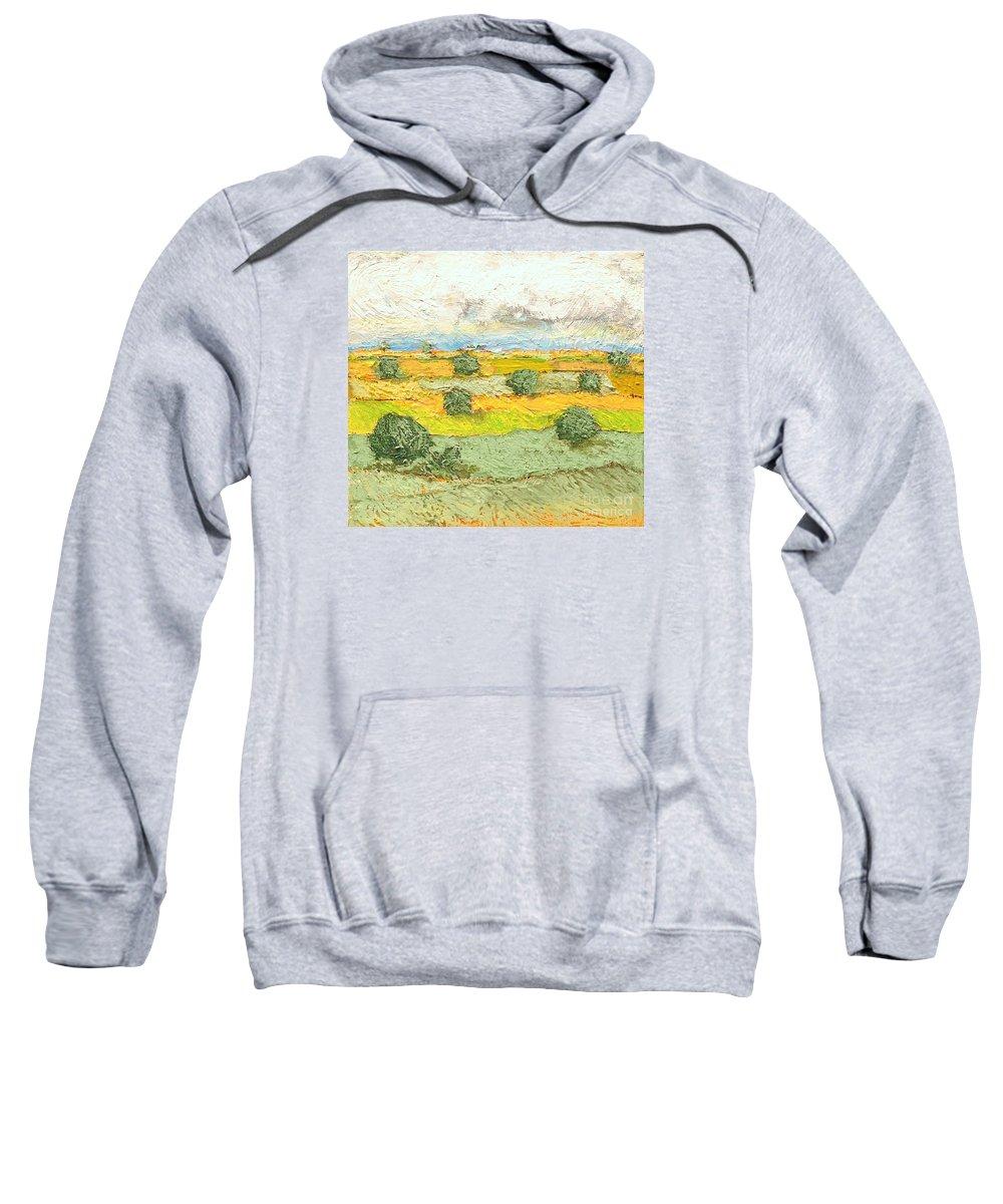 Landscape Sweatshirt featuring the painting Ridge Vista by Allan P Friedlander