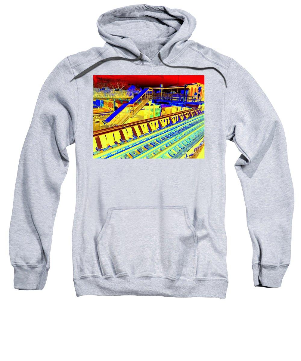 Train Sweatshirt featuring the photograph Ridin The Rails by Ed Weidman