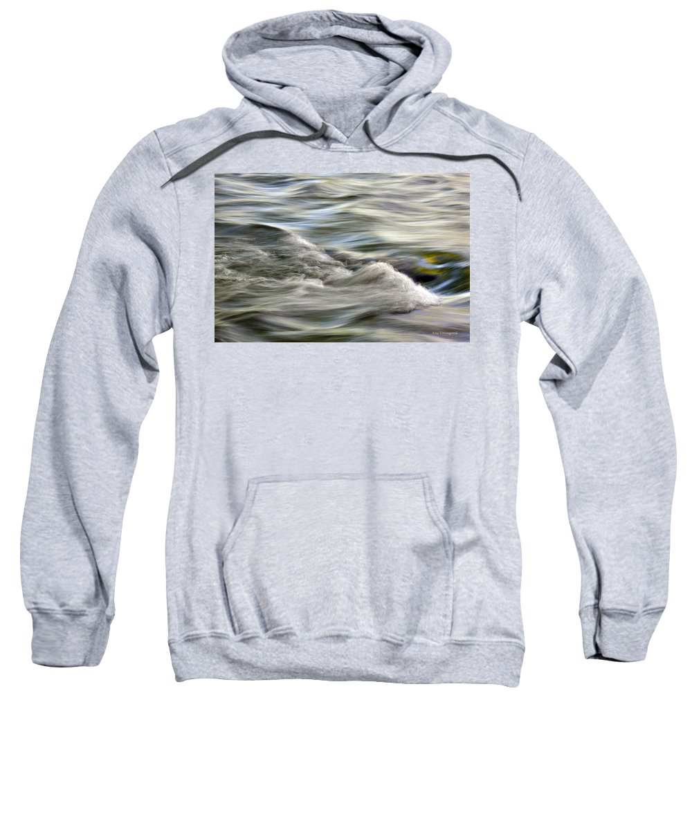 Nature Sweatshirt featuring the photograph Rippling Water by Kay Lovingood