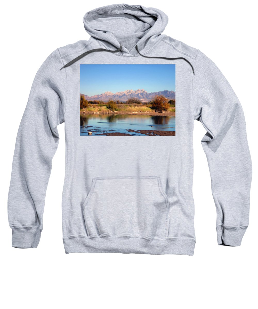 River Sweatshirt featuring the photograph River View Mesilla by Kurt Van Wagner
