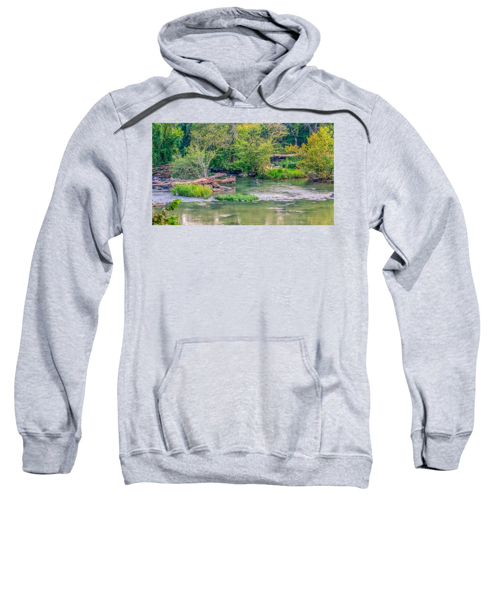 Background Sweatshirt featuring the photograph Riverwalk Park II by Rob Sellers