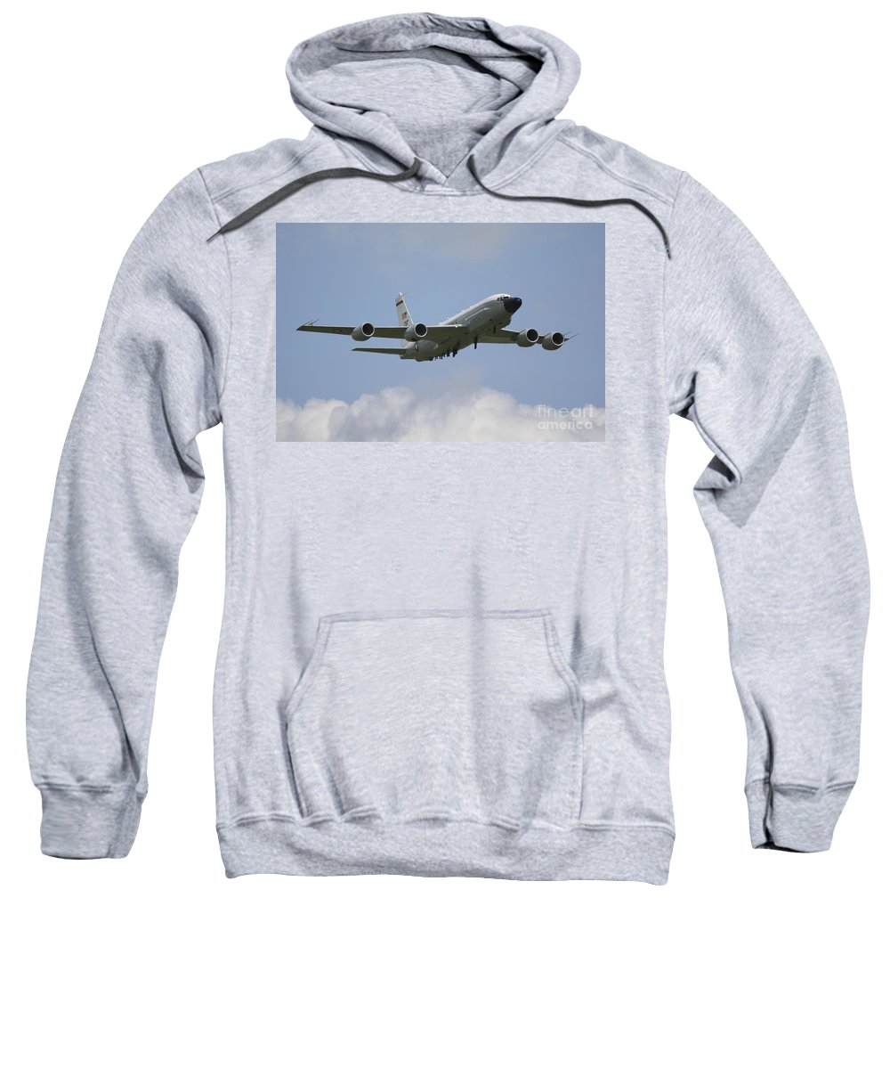 Boeing Rc135 Sweatshirt featuring the photograph Rivet Joint by J Biggadike