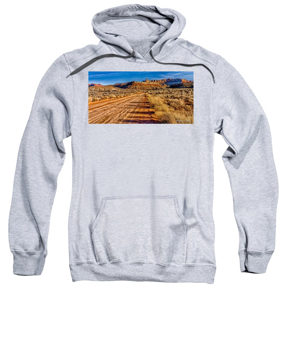 Road Sweatshirt featuring the photograph Road Into Solitude by Christopher Holmes