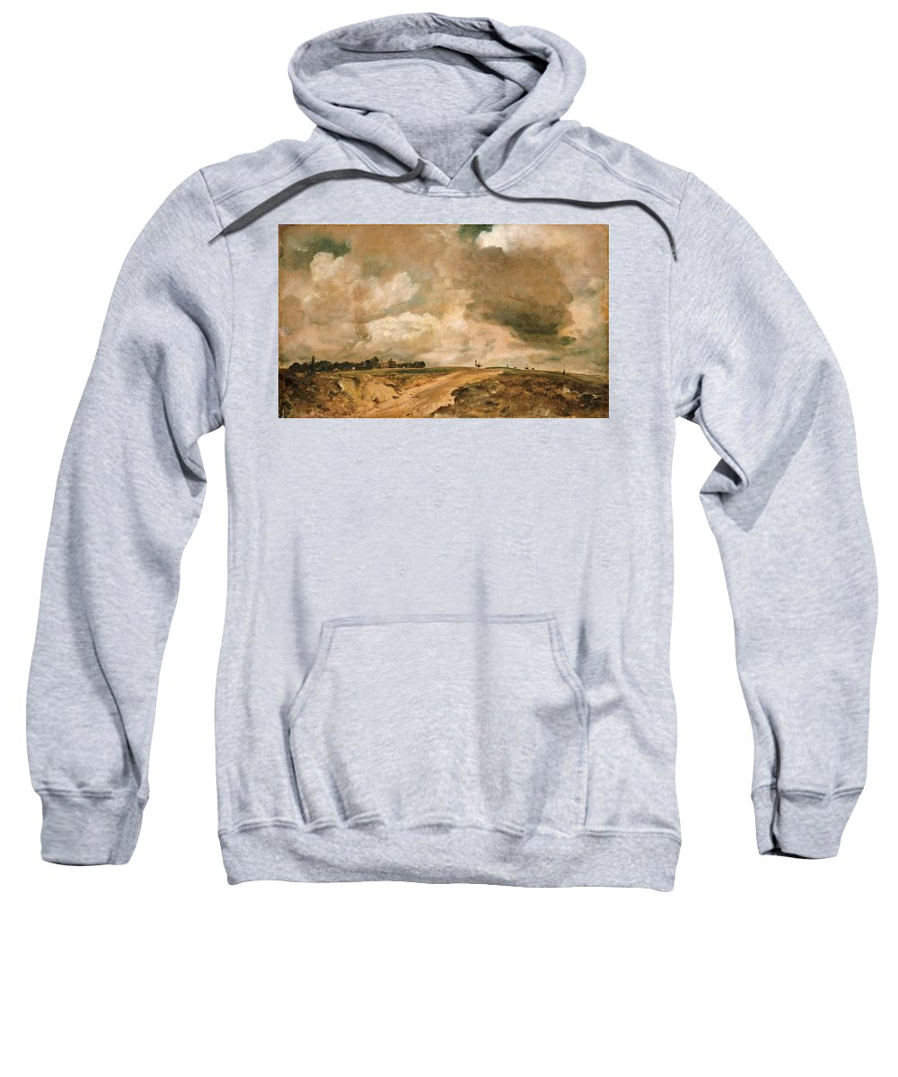 John Constable Sweatshirt featuring the painting Road To The Spaniards. Hampstead by John Constable