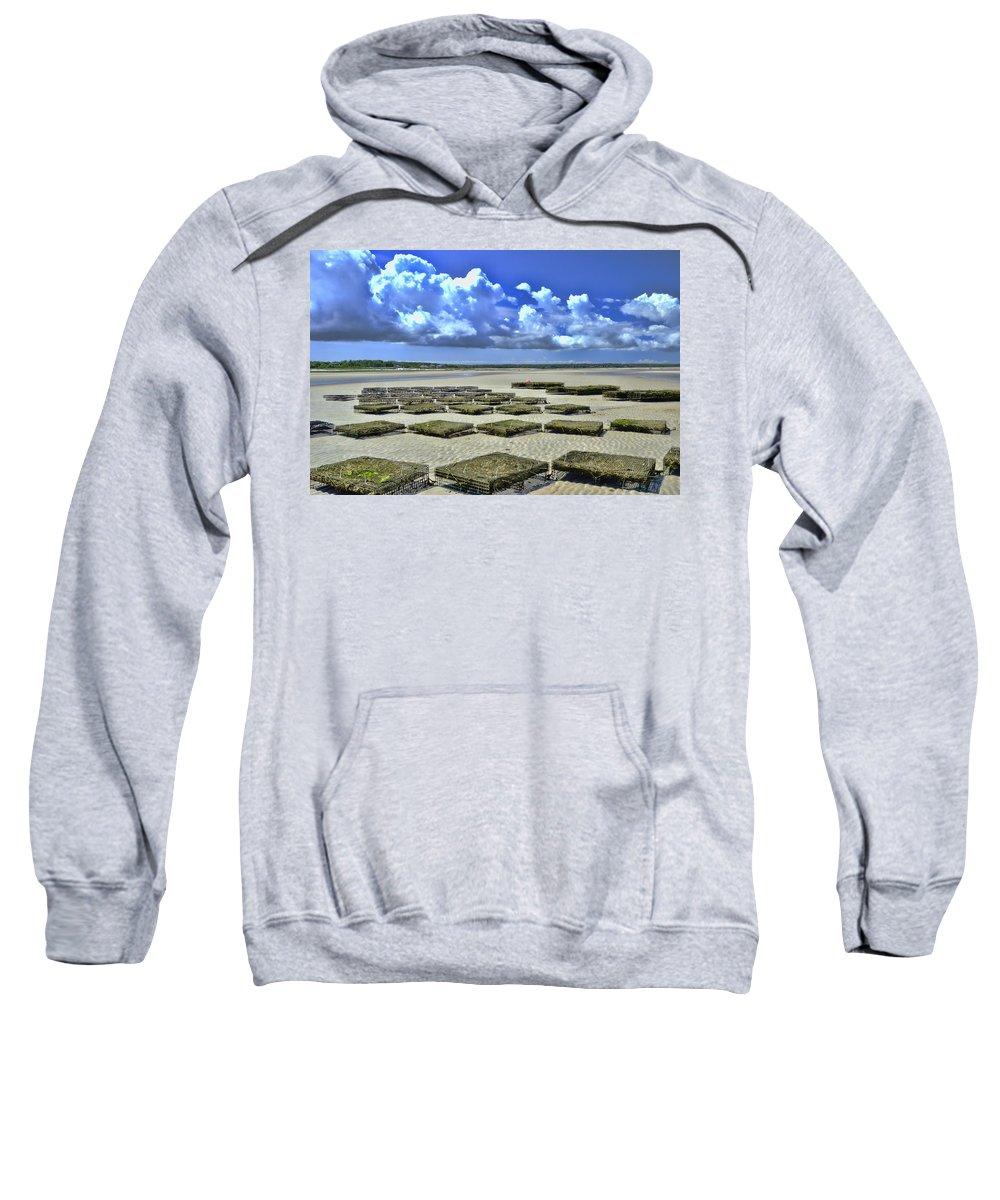 Rock Harbor Sweatshirt featuring the photograph Rock Harbor Lowtide 3 by Allen Beatty