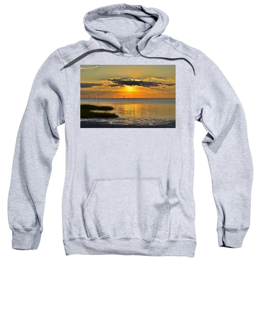Sunset Sweatshirt featuring the photograph Rock Harbor Sunset 2 by Allen Beatty
