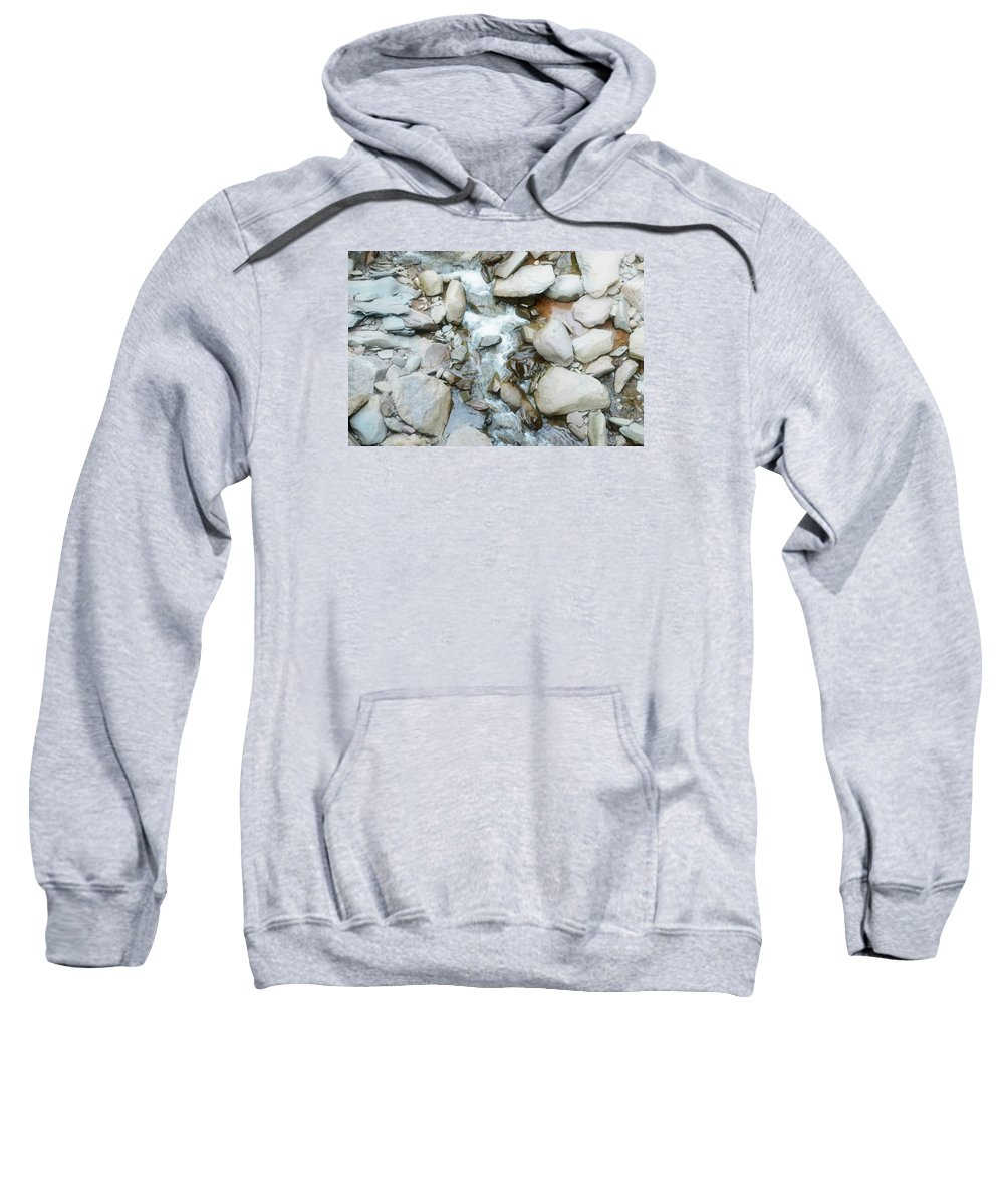 Beautiful Sweatshirt featuring the painting Rock by Jeelan Clark