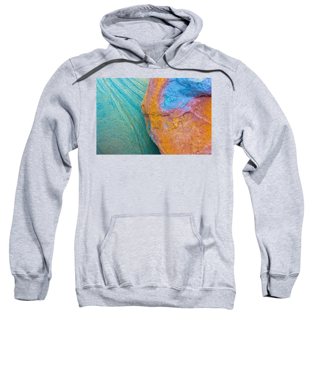 Stone Texture Sweatshirt featuring the photograph Rock Skin by Edgar Laureano