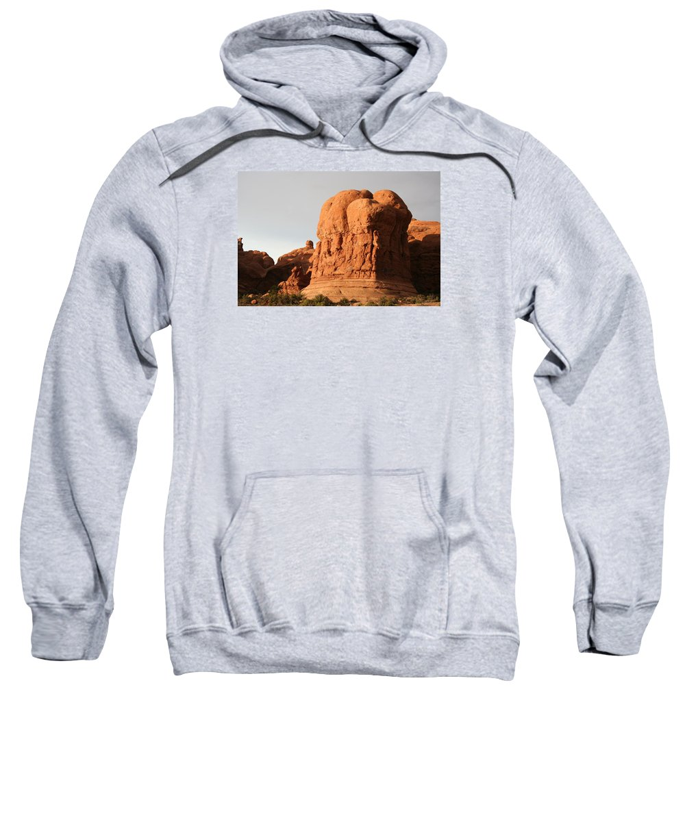 Rocks Sweatshirt featuring the photograph Rockformation Arches Park by Christiane Schulze Art And Photography