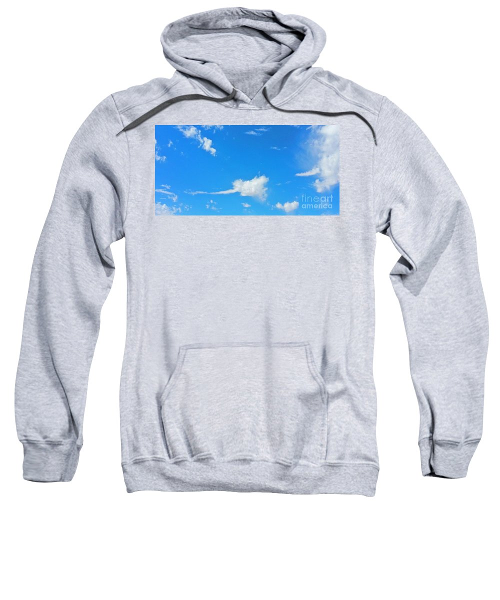 Rock And Roll Sweatshirt featuring the photograph Rock'n Roll Cloud'z by Angela J Wright