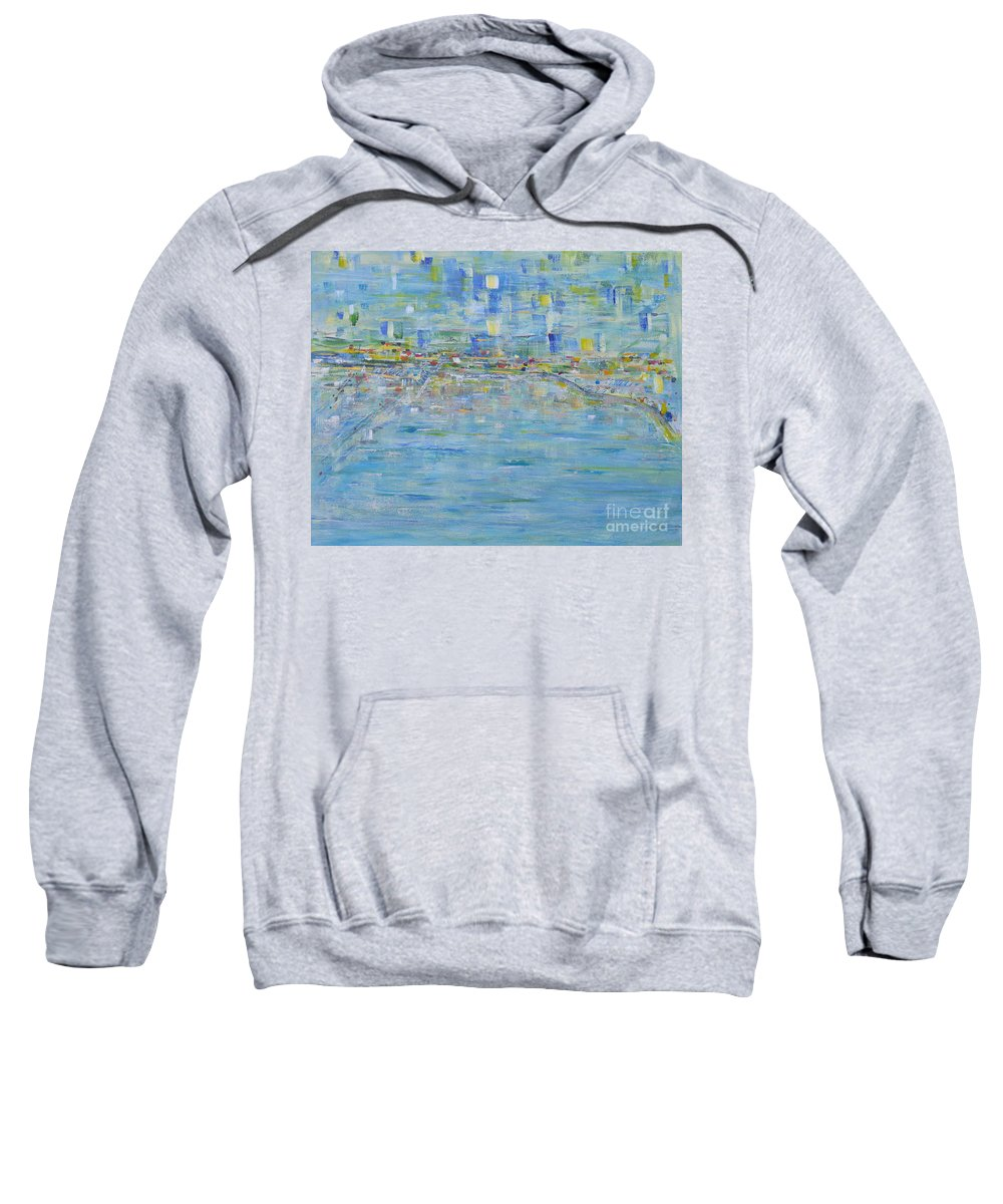 Sea Sweatshirt featuring the painting Rockport Anchorage by Milton Tarver