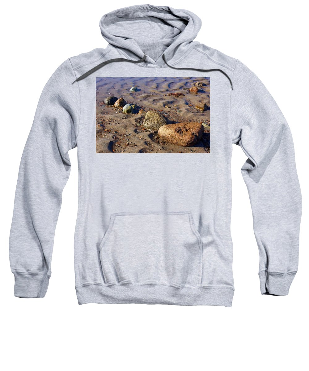 Rock Sweatshirt featuring the photograph Rocks In A Row by Stuart Litoff