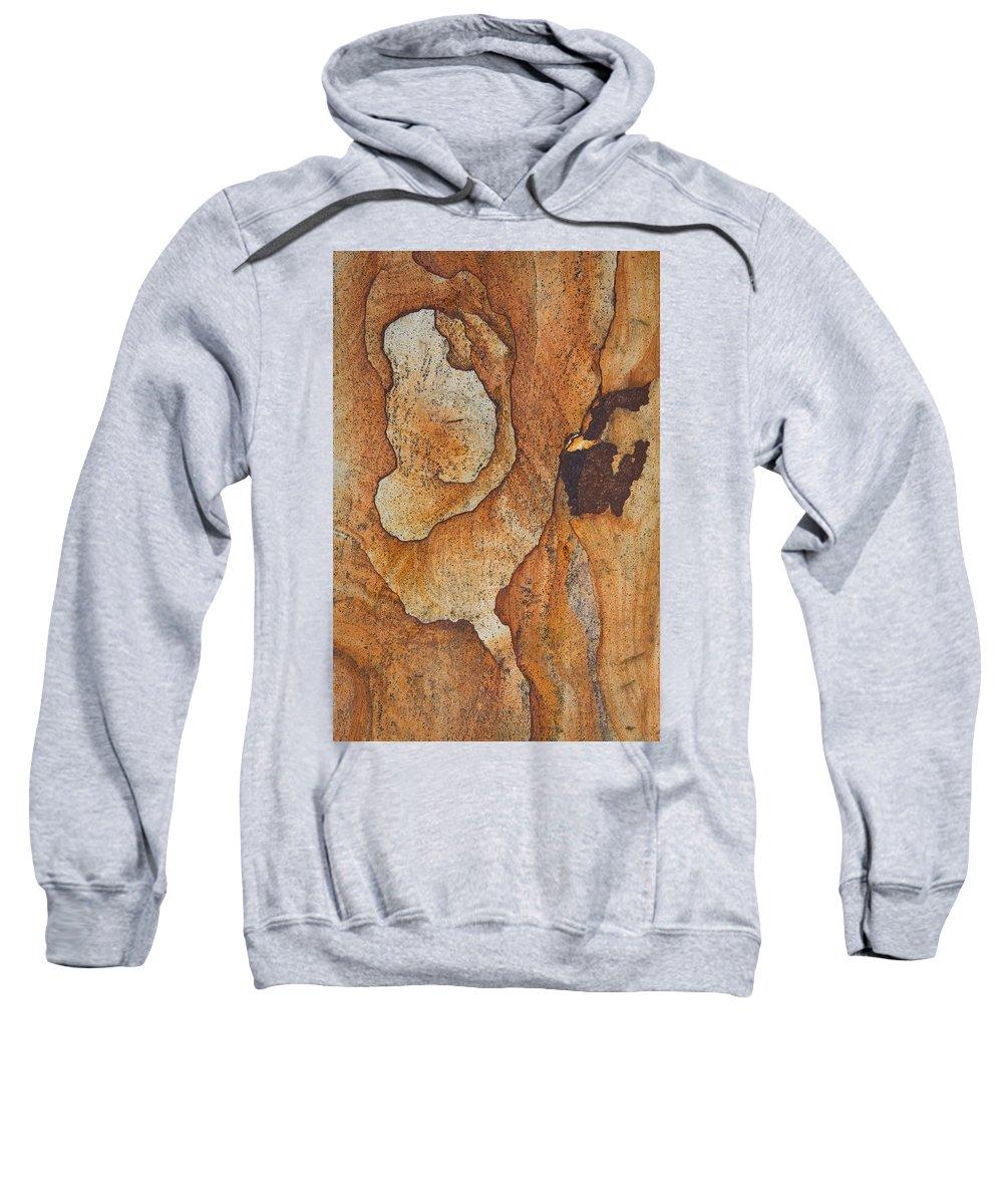 Rock Sweatshirt featuring the photograph rocks 'IV by Milan Gonda
