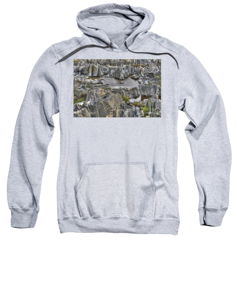 O Sweatshirt featuring the photograph Rocky Arctic Shoreline by Heiko Koehrer-Wagner