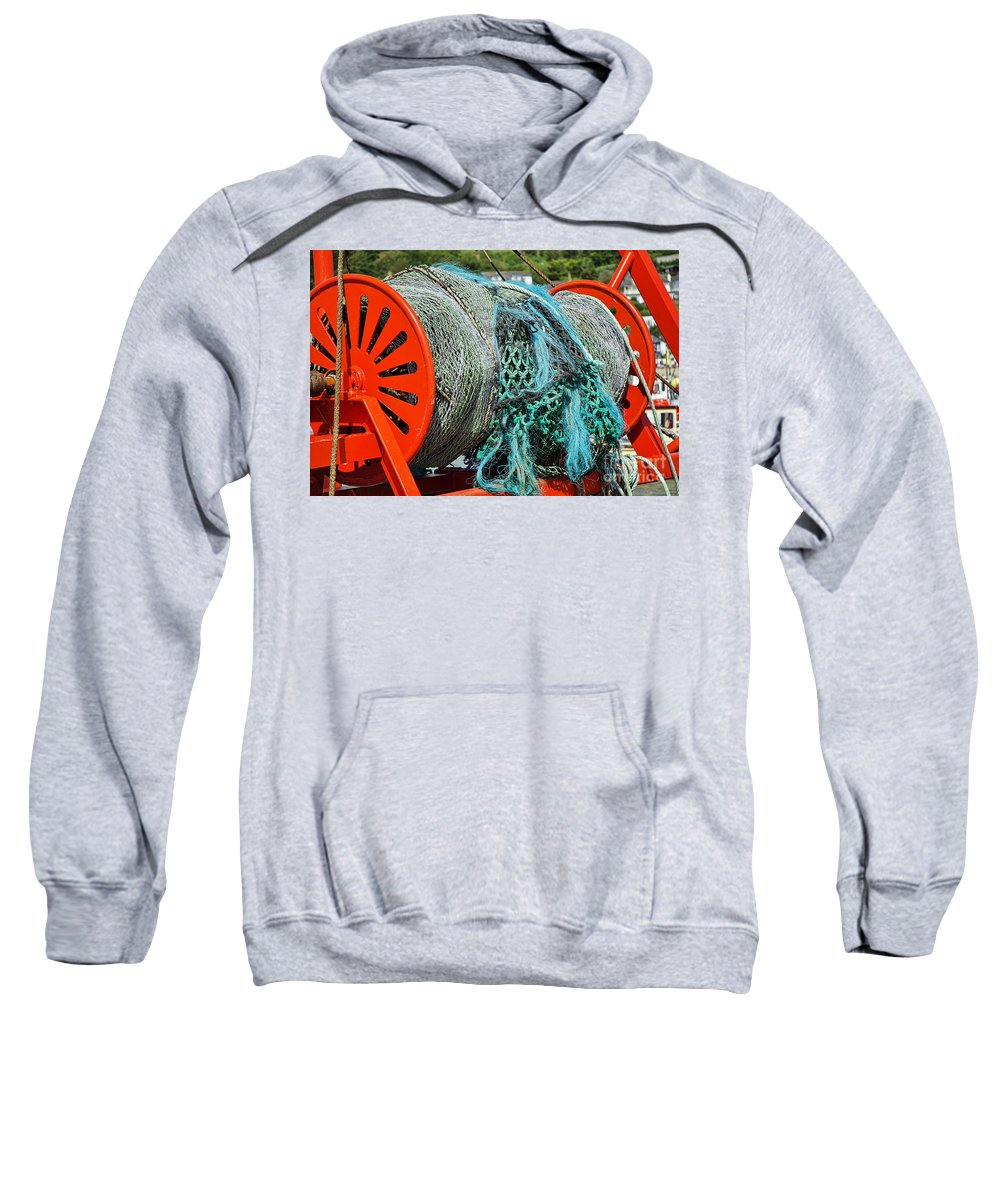 Spanish Eyes Lll Sweatshirt featuring the photograph Rolled-up Nets by Susie Peek