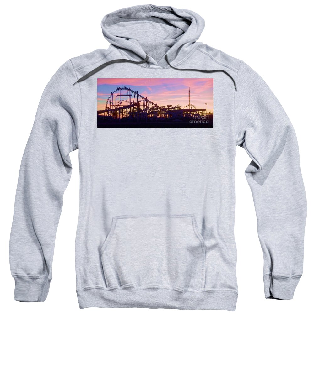 Roller Coaster Sweatshirt featuring the photograph Roller Coaster At The Nj Shore by Eric Schiabor