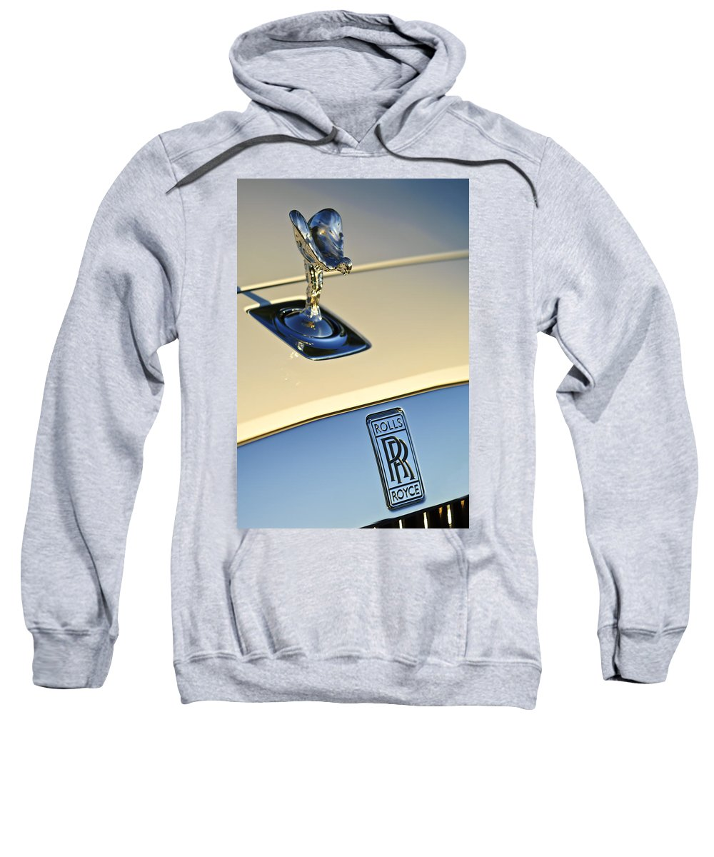 Rolls-royce Sweatshirt featuring the photograph Rolls-royce Hood Ornament 3 by Jill Reger