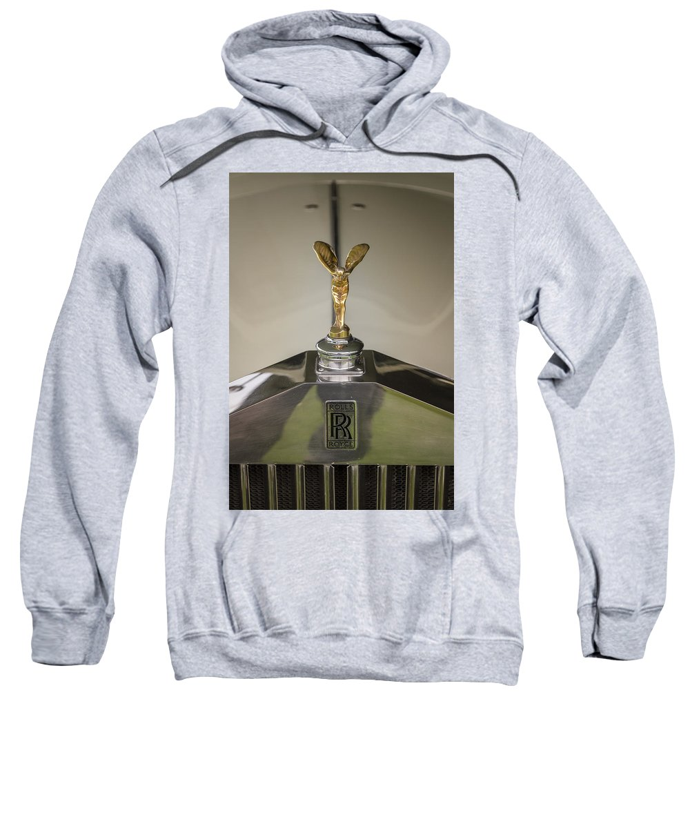Glenmoor Sweatshirt featuring the photograph Rolls Royce by Jack R Perry