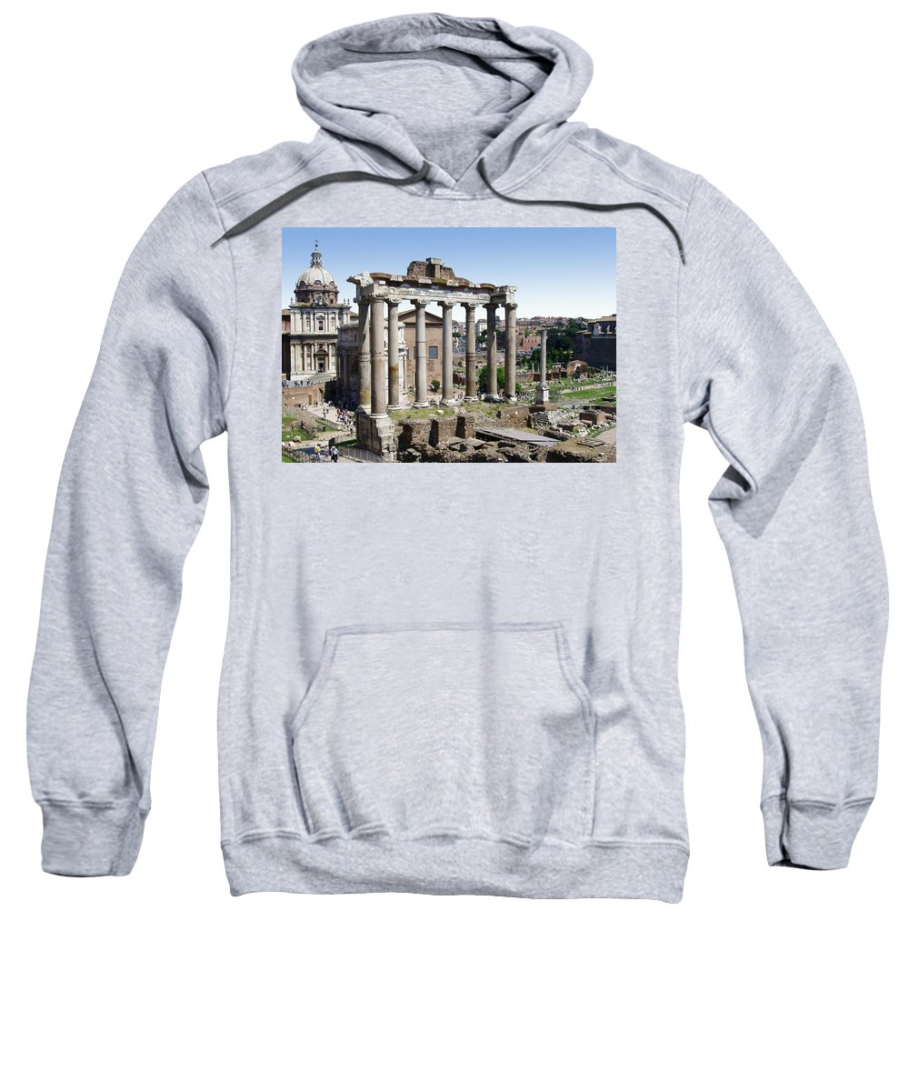 Roman Forum Sweatshirt featuring the photograph Roman Forum by Ellen Henneke