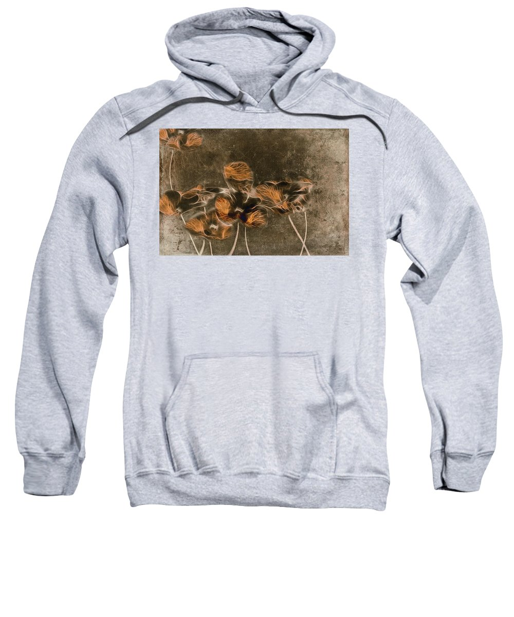 Brown Sweatshirt featuring the digital art Romantiquite - 04c by Variance Collections