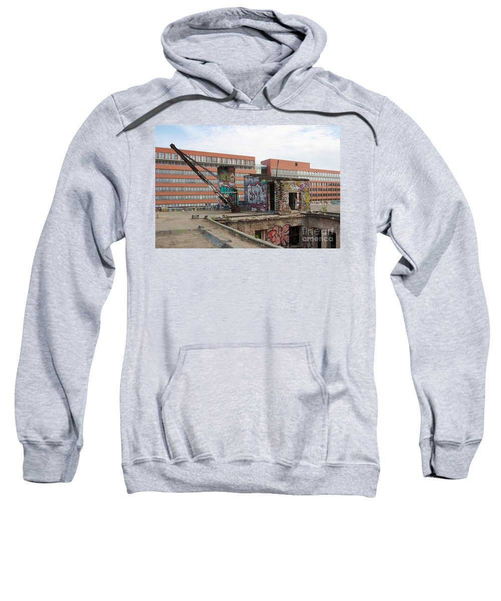 Abandoned Sweatshirt featuring the photograph Roof Of The Alte Eisfabrik Ruin In Berlin by Jannis Werner