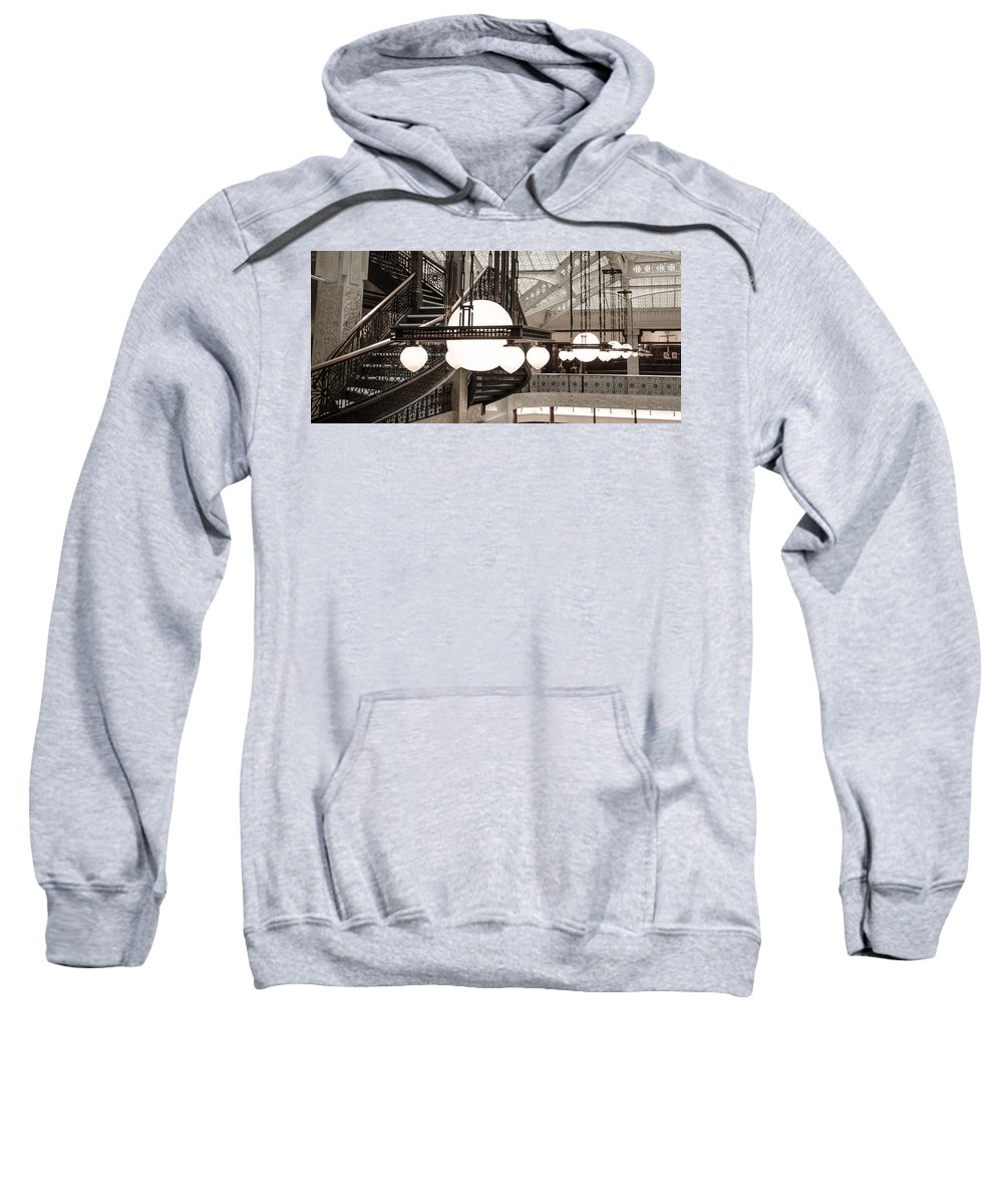 Chicago Sweatshirt featuring the photograph Rookery Building Lights by Anthony Doudt